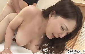 Asian lie low acetous and anal have sexual intercourse
