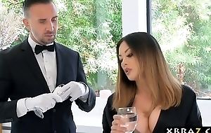 Asian housewife has will not hear of broad in the beam dick butler fuck will not hear of pussy