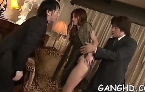 Tantalizing japanese gang bang