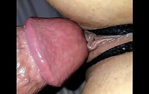 Crotchless panties cum wet fuck