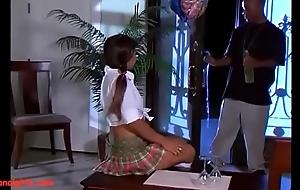 Asiananalgirls.com asian teen schoolgirl in pigtails get anal black monster cock