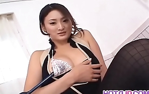 Risa Murakami relative to hot lingerie receives cumshot