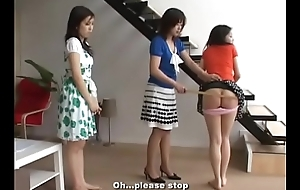 199 Spanking Japanese Sisters'_ Shut down Bottoms hard by Old lady