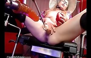 www.girls4cock.com *** Hot Oriental Dutch Teen On Her BDSM FuckMachine