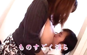Yu Ogawa has Huge Tits filled with Milk