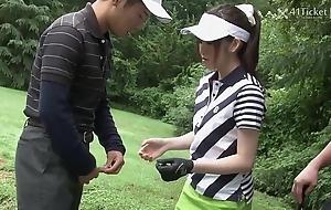 41Ticket - Michiru Tsukino Creampied by Golf Instructor (Uncensored JAV)