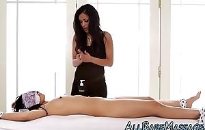 Tied asian masseuse vag