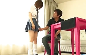 Miku Airi is a sexy schoolgirl in need for a mature cock - More at Javhd.net