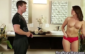 Horny masseuse railed
