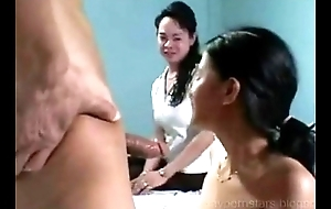 Asian Pinoy Manila Bald girl drilled with dildo anal play and spunk flow facial