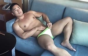 Asian Male Model Masturbating - Silk-stocking