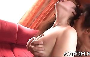 Lengthy shaggy asian deepthroat action
