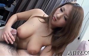 Voluptuous asian'_s juicy blowjob
