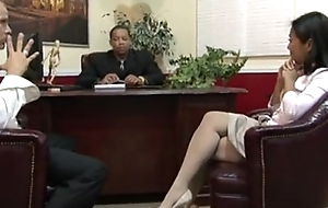 Lucky gangbanged at the office