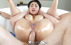 Exotic4K - Busty oriental Jayden Lee lubed ass fucked permanent