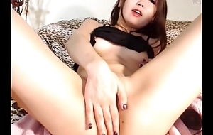 Petite asia girl continue toying