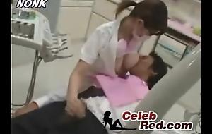 Japanese Dentist Nurse Gives Cook jerking To Specimen