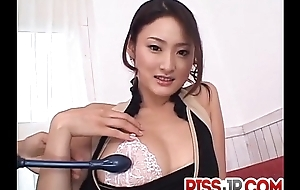 Risa likes begrimed dick plus having jizz on her lips