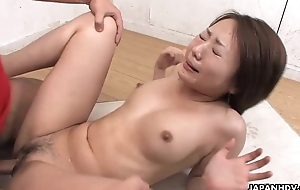 Asian slut has a dick full of her pussy more the class room