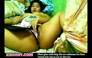 WebcamPlump Big-tit Asian Doll Playing fro Boobs