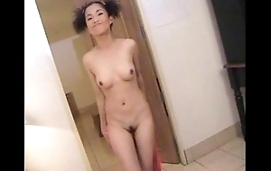 Blue Asian happy strip dance
