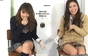 Japanese femdom give handjob with an increment of cunnilingus to accompanying for cash.