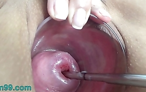 Pioneering Cervix Electrosex with sound depth into Womb