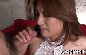 Hawt milf devours big cock