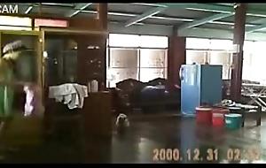 Proy thai girl on spycam