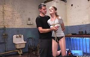 Long haired trainee got likely coupled with fucked deep in her shaved snatch