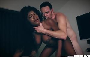 Submissive black slut with big upfront soul gets aptly fucked